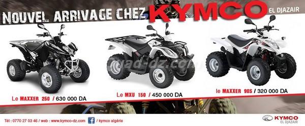 Kymco Algérie annonce l'arrivée de sa nouvelle gamme