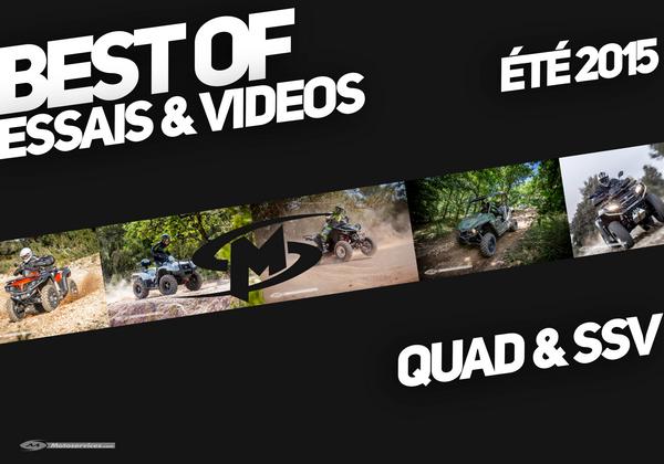 Best of été 2015 : essais et vidéos quads