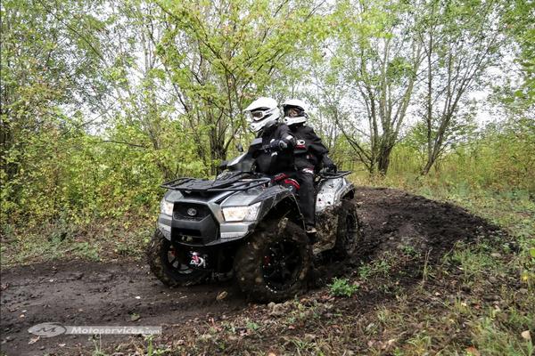 Kymco adopte la direction assistée pour ses quad et SSV 700
