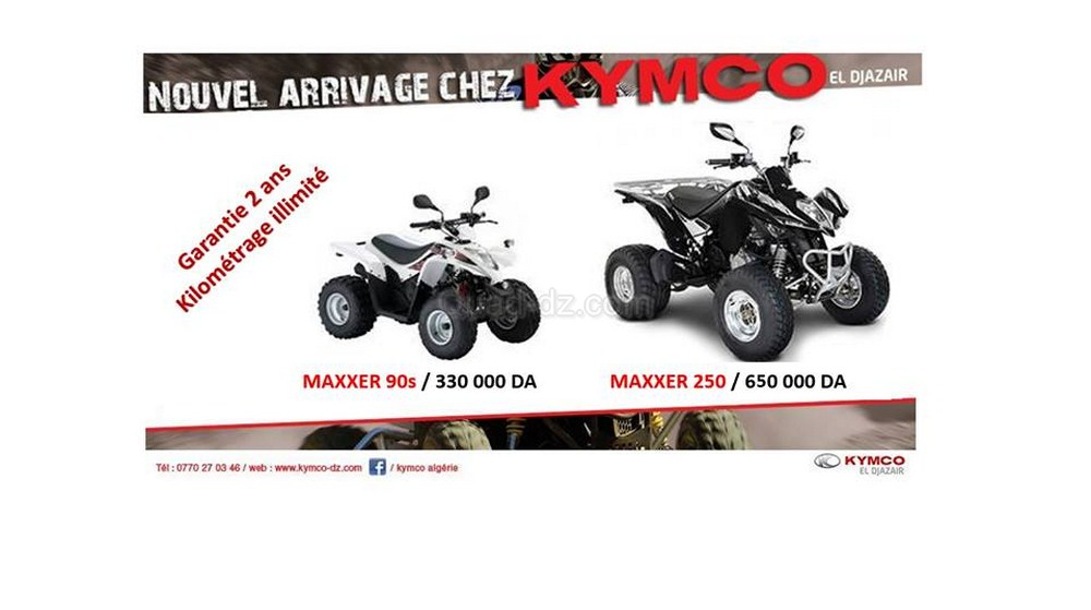 kymco alg rie arrivage quads sportifs maxxer 90s 250. Black Bedroom Furniture Sets. Home Design Ideas