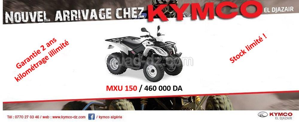 Quad utilitaire : Kymco MXU 150 disponible à 460.000 DZD