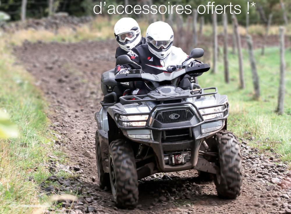 Jusqu'à 700 € d'accessoires offerts avec votre quad Kymco