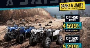 Quads CFMoto 450 et 520 CForce Euro2