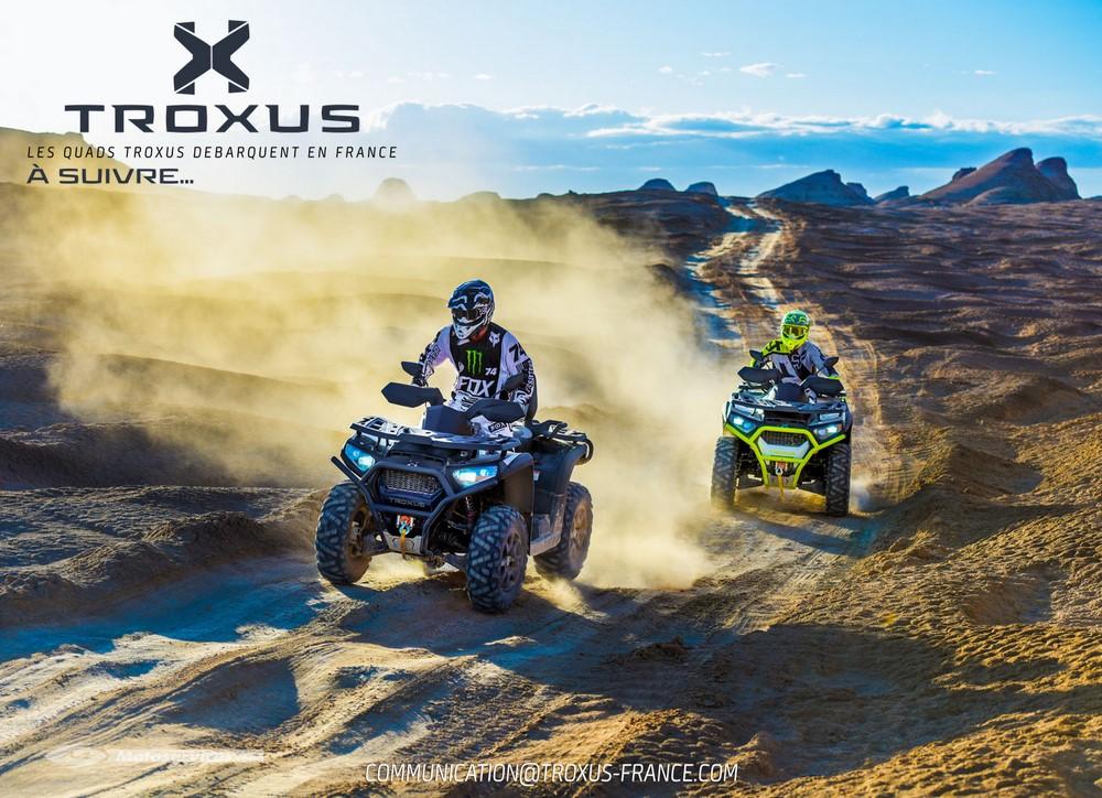 Printemps 2018, une nouvelle marque de quad et SSV sera diffusée en France : Troxus !