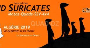 Rallye Algérie : Raid Suricates du 20 janvier au 02 février 2019